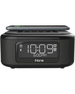iHome iBTW23 Wireless Charging Bluetooth Dual Alarm Clock + USB Charging