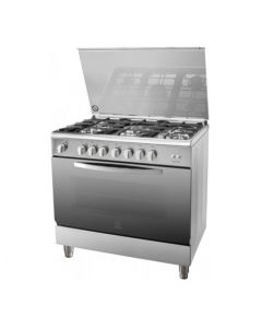 Indesit Gas Cooker 90x60cm I95T1CXEX Cast Iron - Manufacturer Warranty + Free Delivery