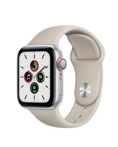 Apple Watch SE 44mm GPS + Cellular MYFE2 Silver Aluminum Case with Sport Band