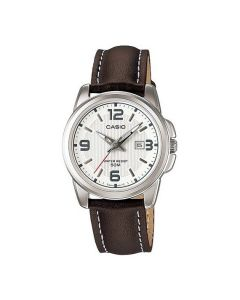 Casio Women's Classic White Dial Leather Band Watch LTP-1314L-7AV
