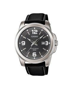 Casio Analog Leather Black Dial MTP-1314L-8AV Men's Watch