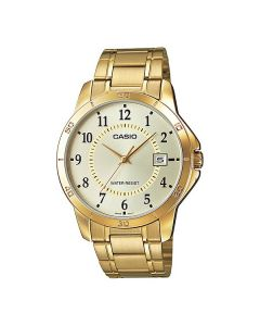 Casio Enticer Analog Gold Tone Dial MTP-V004G-9BUDF Men's Watch
