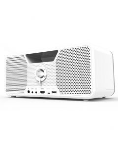 Aiptek Dashbon Flicks Mobile Cordless Boombox Projector 140WH White