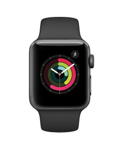 Apple Watch Series 2 38mm MP0D2LL/A Space Gray Aluminum Case Black Sport Band (Space Gray Aluminum)