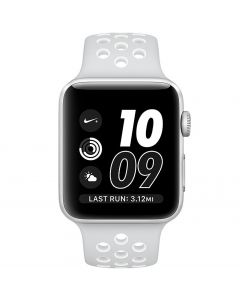 Apple Watch Series 2 Nike+ 38mm MQ172LL/A Silver Aluminum Case with Pure Platinum/White Nike Sport Band