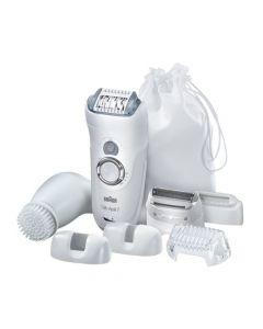 Braun Silk Epil 7 7569 Wet & Dry Epilator for Legs, Body & Face + Facial Brush