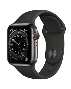 Apple Watch Series 6 44mm GPS Graphite Stainless Steel Case with Sport Band