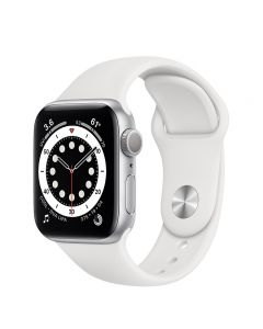 Apple Watch Series 6 44mm GPS Silver Aluminum Case with Sport Band