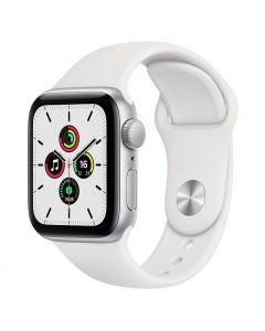 Apple Watch SE 40mm GPS Silver Aluminum Case with Sport Band