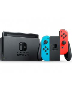 Nintendo Switch (2019) with Neon Blue and Neon Red Joy-Con