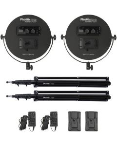 Phottix Nuada R3 LED Light Twin Kit Set