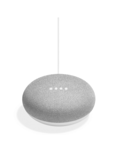 Google Home Mini Voice Activated Smart Speaker - Chalk