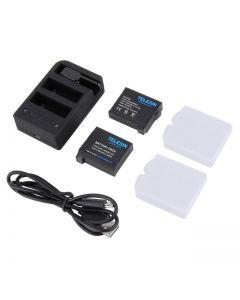 Telesin Triple Battery Charger For GoPro Hero 5, Hero 6, Hero 7